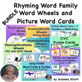 Rhyming Word Family Wheels and Picture Word Cards for Puzz