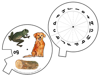 CVC Words Activities with Rhyming Word Family Wheels