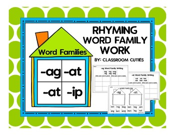 Rhyming Word Family Work