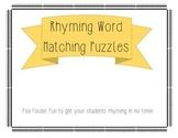 Rhyming Word File Folder