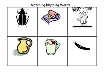 Rhyming Word Flash Cards with Matching Board