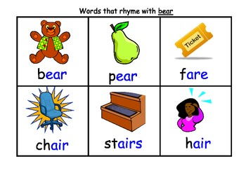 Punchy image inside rhyming flash cards printable