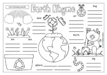 Earth Day Freebie - Rhyming Word Fun