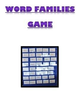 Rhyming Word Game (word families)