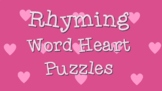 Rhyming Word Heart Puzzles