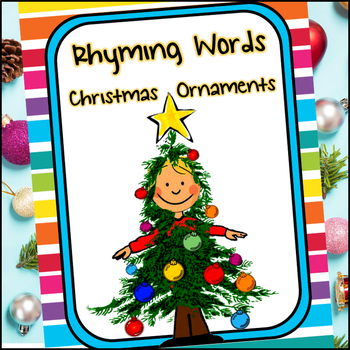 rhyming word ornaments a christmas unit by creations by lackert