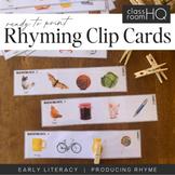 Rhyming Word Peg Cards