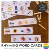 Rhyming Word Peg Cards