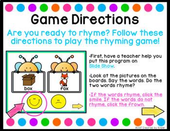 Rhyming Words {PowerPoint Game}