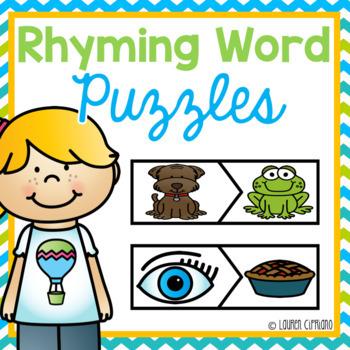 Rhyming Word Puzzle {Freebie}
