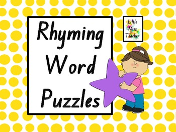 Rhyming Word Puzzles - 45 Puzzles = 90 Puzzle Pieces!