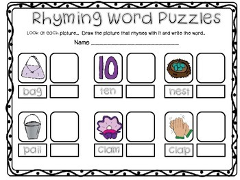 Rhyming Word Puzzles
