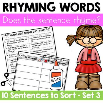 Rhyming Word Sentence Sort 3