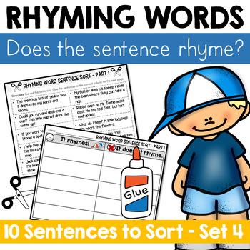 Rhyming Word Sentence Sort 4