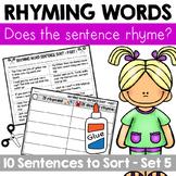 Rhyming Word Sentence Sort 5
