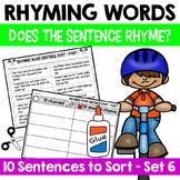 Rhyming Word Sentence Sort 6