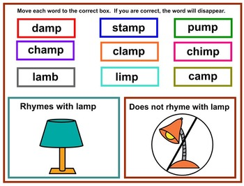 Rhyming Word Sort