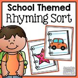 Back to School Rhyming Word Sort