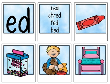 Rhyming Word Sort Cards {Word Families} for Kindergarten and First Grade