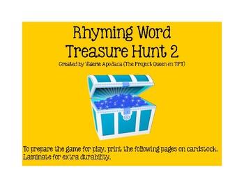 Rhyming Word Treasure Hunt 2