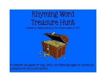 Rhyming Word Treasure Hunt