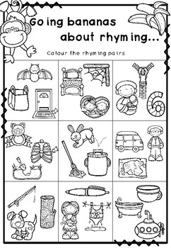 Rhyming Word Wall Picture Display and Resources