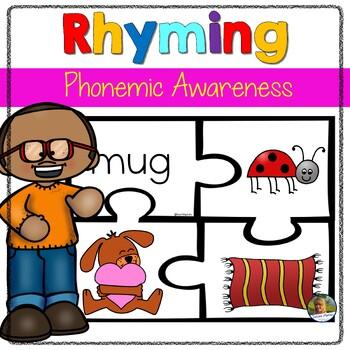 Rhyming Words  Phonics Games Puzzles Word Work for Kindergarten