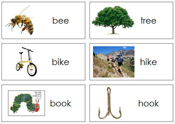 Rhyming Words and Pictures - Level 3, Set 1