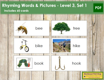 Rhyming Words and Picture - Level 3, Set 1