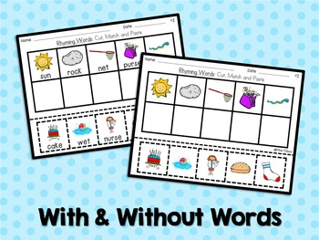 ABC Activities 9: Cut, Match and Paste - Rhyming Words
