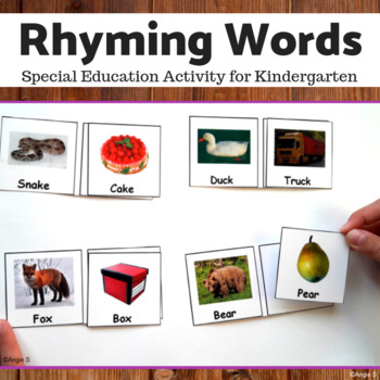 Rhyming Words Matching Activity