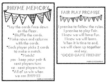 Rhyming Words Activities & Assessment