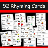 Rhyming Words- 52 cards with words and pictures