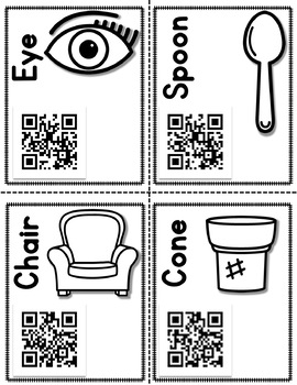 Rhyming Words - A QR Scavenger Hunt!