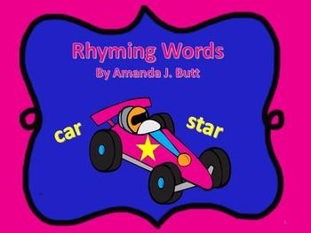 Rhyming Words Activities - Kindergarten; First Grade; Special Ed.; Autism;