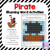 Rhyming Words Activities and Worksheets (Pirate Theme)