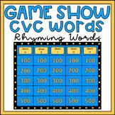 Rhyming Words Activity CVC Words Game Show EDITABLE