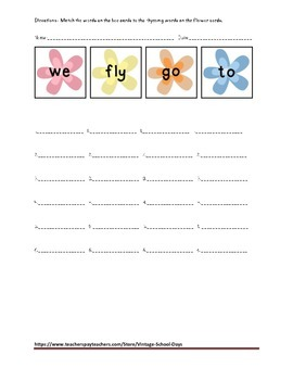 Rhyming Words Activity Center Matching Worksheet RTI RL.2.4