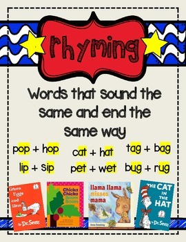 rhyming words anchor chart by emily mae s teacher files tpt