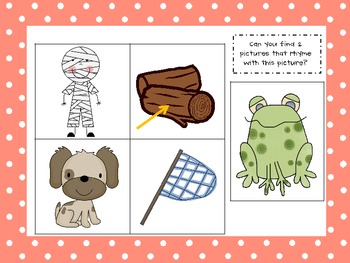 Rhyming Words Assessment Cards