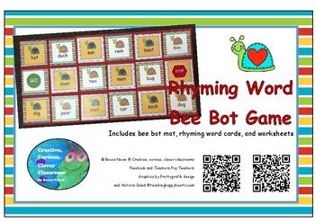 Rhyming Words Bee Bot Game