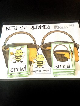 Rhyming Words Bees and Honey Card Game