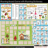Rhyming Words Board Game with 40 entry Rhyming Dictionary