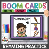 Rhyming Words Boom Cards April