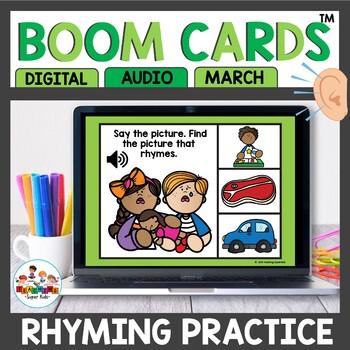 Rhyming Words Boom Cards March