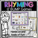 Rhyming Words Bump Game - No Prep Literacy Center