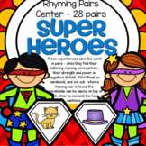 Rhyming Words Center Superheroes