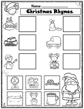 Rhyming Words:  Christmas Print an Go Activities