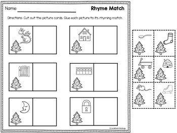 Rhyming Words - Christmas Rhyming Activity