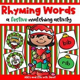 Rhyming Words {Christmas themed matching activity}